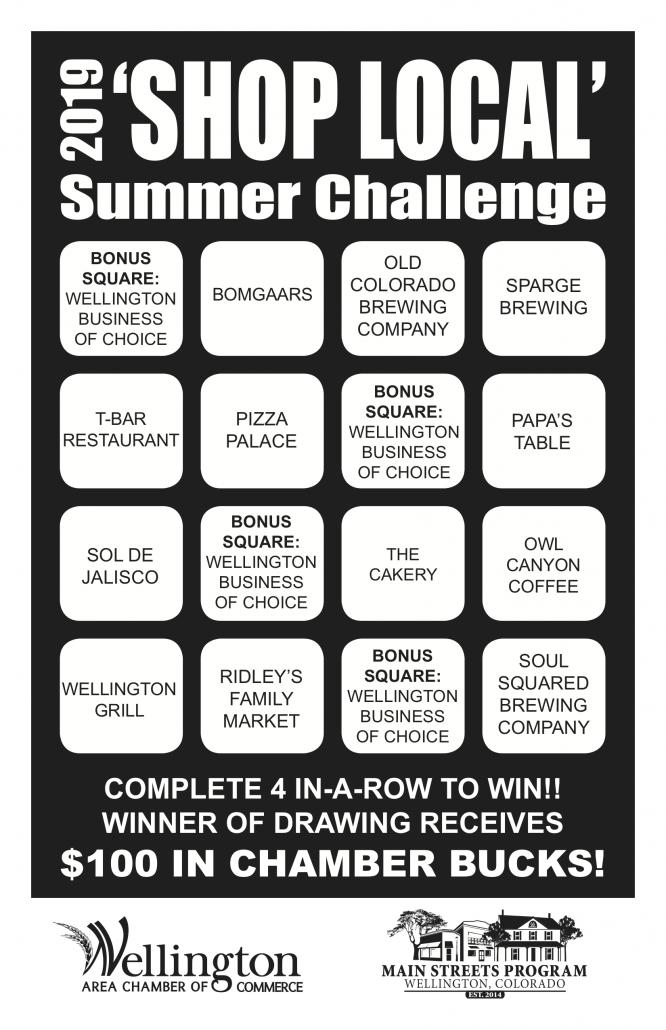 2019 SUMMER CHALLENGE CARD