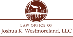Law Office Of Joshua K Westmoreland Logo Maroon And White Web